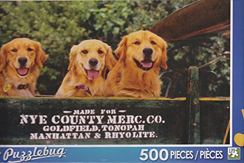 Puzzlebug 500 Piece Puzzle ~ Golden Welcome Wagon - 1