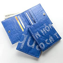 Men's Recycled Rice Bag Wallet - Cambodia