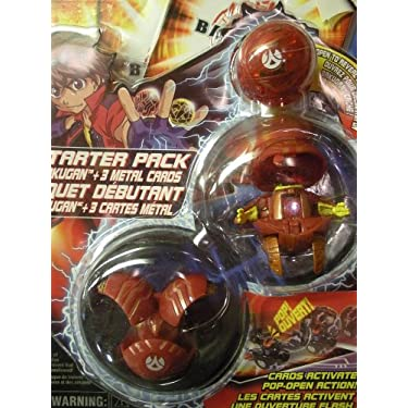 Bakugan Battle Brawlers Series 1 Starter Pack Pyrus Red Preyas Falconeer Translucent Mystery Marble