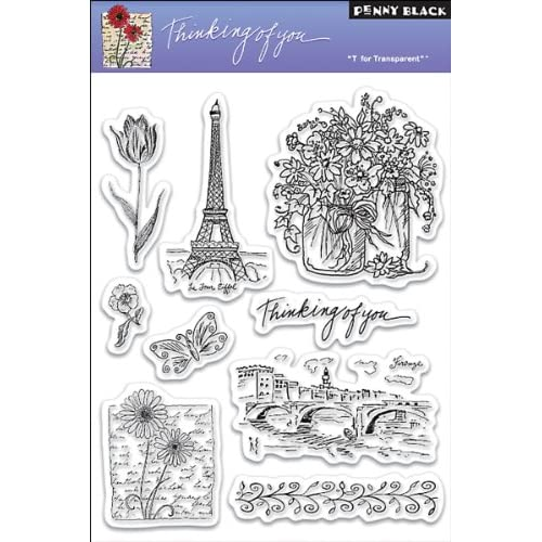 Penny Black Clear Stamp 5X7.5 Sheet Thinking Of You
