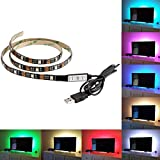 NICEKER LED TV Backlight Bias lighting Kit - 100CM 5V LED Strip  TV Back Lighting for HDTV, Desktop PC etc.