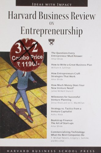 Harvard Business Review on Entrepreneurship (