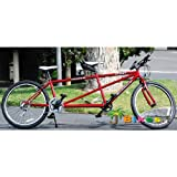 J Bikes by Micargi Sport 26 21-Speed 2-Seater Tandem Bicycle - Red