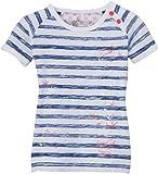 Name it Gulia Mini Top 214 - Camiseta a rayas para niña, talla 9-12 meses (80), color azul (blue depths)