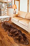 Overland 2-Pelt End-to-End Australian Sheepskin Rug, TAN TIPPED, Size 1 Size