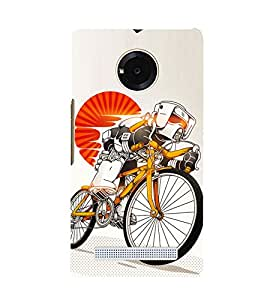 Cycle sport 3D Hard Polycarbonate Designer Back Case Cover for YU Yuphoria YU5010