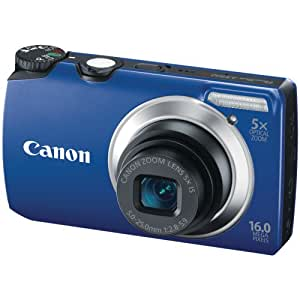 Canon Powershot A3300 16 MP Digital Camera with 5x Optical Zoom (Blue)