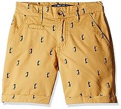 Bare Kids Boys' Shorts (BB/SS16/shorts/89_Sand_13 - 14 years)