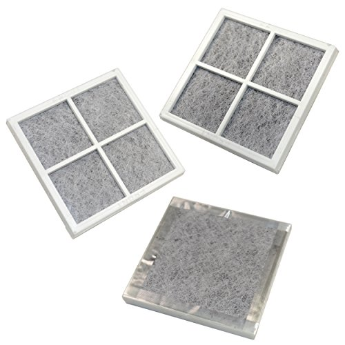 HQRP 3-pack Air Filters for Kenmore Elite Refrigerators 04609918000 / 469918 / 9918 Elite CleanFlow Replacement + HQRP Coaster