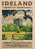 Vintage Travel IRELAND LAND OF ROMANCE with GREAT SOUTHERN RAILWAYS Blarney Castle, County Cork c1930 250gsm Gloss ART CARD A3 Reproduction Poster