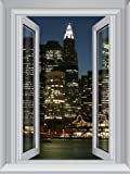 JP London AMD7A017 4-Feet by 3-Feet Removable Jersey Large Window Wall Mural