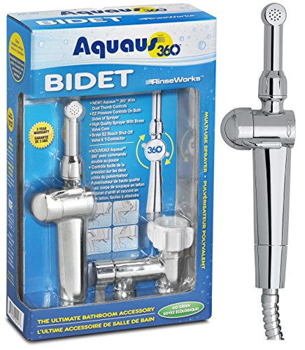 NEW-Aquaus-360-Premium-Hand-Held-Bidet-w-Dual-Ergonomic-Thumb-Pressure-Controls-on-both-sides-of-the-Sprayer-for-EZ-Pressure-Control-Comfortable-to-Hold-Maneuver-Made-in-USA-3-Year-Warranty