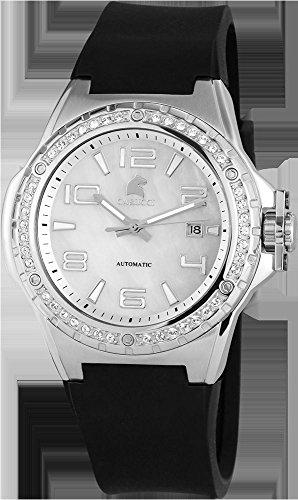 Carucci Watches CA2213SL - Reloj para mujeres, correa de goma color negro