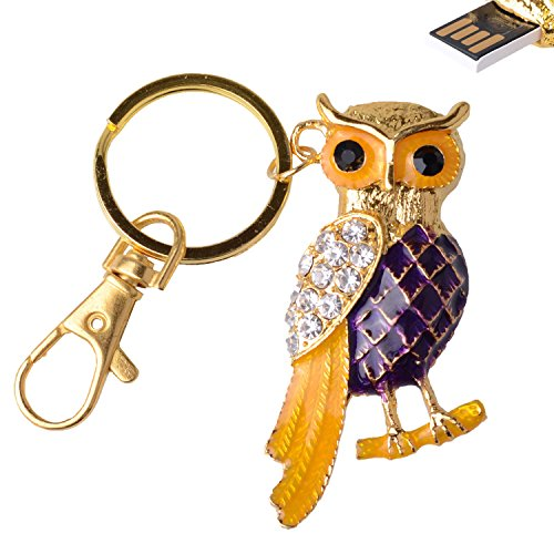 ® 8GB Crystal Giraffe USB 2.0 Flash Drive with Key Chain