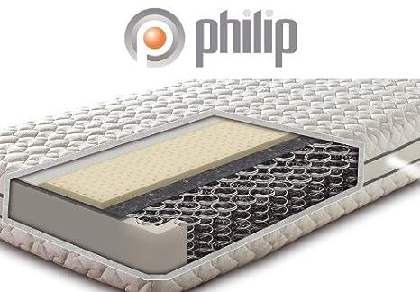 Philip Latex Extra Latex-Matratze mit Bonnell-Federkern Luxushöhe 25 cm, Größe:90 x 190 cm;Härtegrad:H2