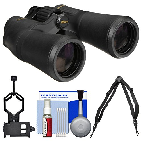 Nikon Aculon A211 10x50 Binoculars with Case with Harness Strap + Smartphone Adapter + Cleaning Kit (Nikon Harness compare prices)