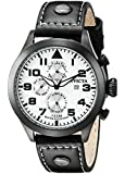 Invicta Men's 0354 Specialty Collection Terra Retro Military Watch with Faux-Leather Band