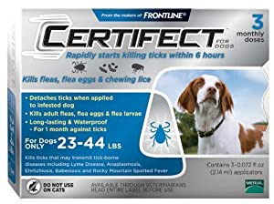 Certifect for Dogs 23-44lbs 3 month supply