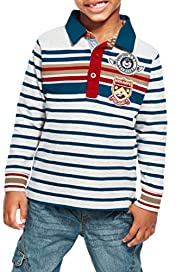 Cotton Rich Multi-Ztriped Rugby Top [T88-0637B-Z]