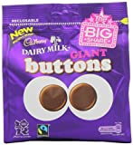 Cadbury Milk Chocolate Giant Buttons Sharing Bag 275 g (Pack of 5)