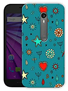 """Humor Gang Stars And Flowers Printed Designer Mobile Back Cover For """"Motorola Moto X Style"""" (3D, Matte, Premium Quality Snap On Case)"""