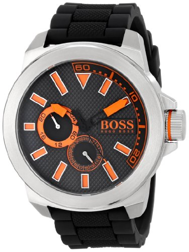 Hugo Boss Orange 1513011 49mm Stainless Steel Case Black Silicone Mineral Men's Watch
