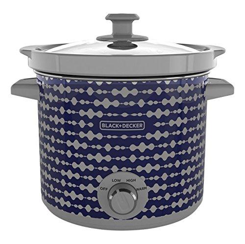 BLACK+DECKER SC2004D 4 Quart Slow Cooker, Slow Cookers, Dial Control, Purple Pulse