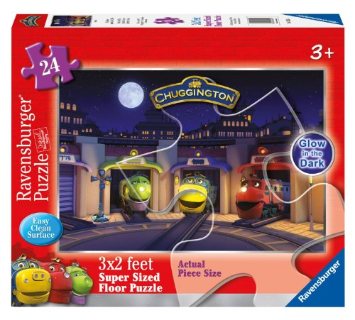 Chuggington Bedtime 24 Piece Glow-In-The-Dark Floor Puzzle - 1