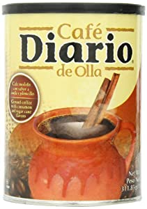 Café Diario Ground Coffee, De Olla, 11 Ounce (Pack of 12)