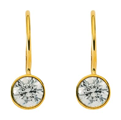 Earrings with Cubic Zirconium made from 8 Carat 333 Gold