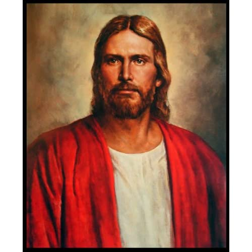 "Amazon.com: Red Robe Jesus the Christ, Quality Lithograph Print 20"" x"