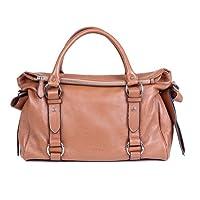 PASTE Fashion Side Bowknot Cowhide Leather Shoulder Tote Handbag