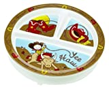 Sugar Booger Yee Haw Feeding Collection Divided Suction Plate Color: Yee Haw Infant, Baby, Child