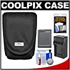 Nikon Coolpix 5879 Digital Camera Case with EN-EL12 Battery + Charger + Accessory Kit for AW110, AW120, P330, P340, S31, S800C, S9500, S9700