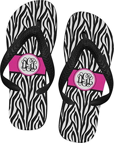 Zebra Print Flip Flops - Extra Small front-672570