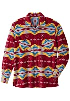Kingsize Men's Big & Tall King Size Fleece Shirt In Aztec Print