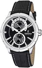 Comprar Festina F16573/3 - Reloj analógico de cuarzo para hombre con correa de piel, color negro