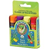 BADGER Classic Lip Balm, 4-Pack