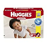 Huggies Snug and Dry Diapers, Size 5, Economy Plus Pack, 172 Count (One Month Supply)