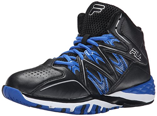Fila Men's Posterizer Basketball Shoe, Black/Black/Prince Blue, 11.5 M US
