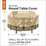 Classic Accessories 71912 Veranda Round Patio Table & Chair Set Cover, Small