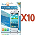 CoverON® 10 Pack Transparent LCD Clear Screen Protector Shield for ZTE Fury / Director