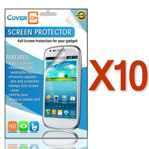 Coveron® 10 Pack Transparent Lcd Clear Screen Protector Shield For Zte Z998 Unico Lte