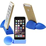 Dseap Silicone Horn Stand Speaker compatible with Apple iPhone 6 Plus iPhone 6s Plus 5.5 inch - Blue