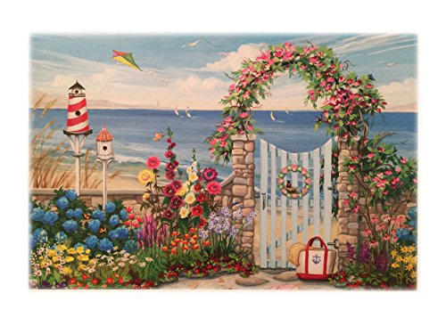 Joelle McIntyre 1000 Piece Jigsaw Puzzle Summertime Gate at the Beach