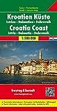 Freytag Berndt Autokarten, Kroatien Küste - Istrien - Dalmatien - Dubrovnik - Maßstab 1:200.000