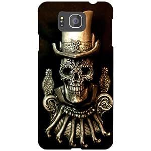 Samsung Galaxy Alpha G 850 Black Devil Matte Finish Phone Cover - Matte Finish Phone Cover