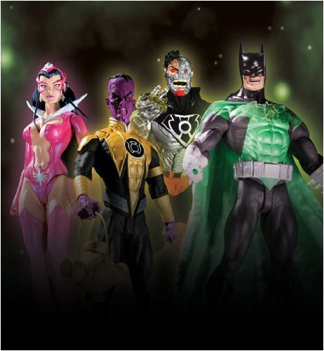 Picture of DC Direct Green Lantern 3: Action Figures Set of 4 (B001CTEP1S) (Green Lantern Action Figures)