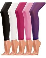 2 STÜCK / 1 Farbe Kinder-Leggings, Microfaser 44 dtex = 40den- blickdicht
