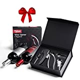 Best Automatic Rabbit Lever Style Corkscrew Wine Bottle Opener Gift Set With Bonus Wine Aerator Decanter, Foil Cutter and Replacement Corkscrew